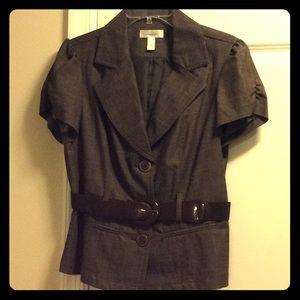 Brown short sleeve blazer